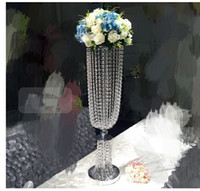 Wholesale crystal flower wedding garlands for sale - Group buy no the flowers including Bling Bling sliver iron Crystal Bead Garland Diamond Wedding flower pots