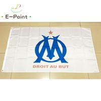 Wholesale France Flag Polyester - France Olympique de Marseille 3*5ft (90cm*150cm) Polyester flag Banner decoration flying home & garden flag Festive gifts