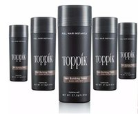 Wholesale Full Solutions - Dropshipping Toppik Hair Building Fibers with Hairline Optimizer 9 Colors Spray Thinning Natural Keratin Full Hair Loss Solutions 27.5g