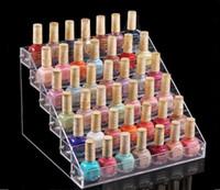 soporte para pintalabios acrílico al por mayor-Multifunción maquillaje cosmético soporte de pantalla claro acrílico organizador Mac lápiz labial joyería cigarrillo titular de exhibición de esmalte de uñas Rack