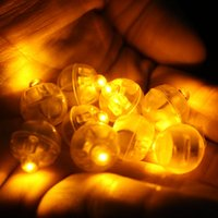 100pcs / lot Yellow Mini Balloon Lampe LED Ball Light pour Paper Lantern Balloon Wedding Party Floral Decoration Halloween Suppies