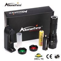 Wholesale Portable Red Signal Led Lights - Alonefire NEW Tactical G700-N CREE XML T6 LED Zoom led Flashlight Troch Red Green light lens signal light With Powerful magnet