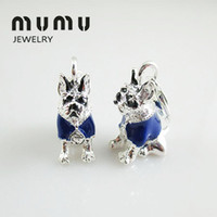 Wholesale Shark Dog - Wholesale Fashion Diy Jewelry Findings & Components Dog Animal Pendant Silver Shark Thomas Charms For European Pendant Chains Free Shipping