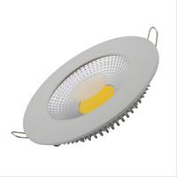 ultra dünnes vertieftes licht dimmbar großhandel-dimmbare LED-Downlights 5W / 10W / 15W COB vertiefte Beleuchtung Dünne runde Decke Einbau ultra dünnes Downlight AC85-265V führte Deckenleuchte