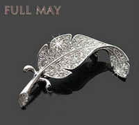 Wholesale Small Leaves Plants - South Korea joker is small adorn article Sweet brooch with drill leaves Both men and women pin Yiwu accessories wholesale