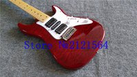 Wholesale best CHINA Factory guitar ST New Musical Instruments red solid body for Beginners Electric Guitars