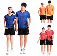 Wholesale Victor Shirt - New Victor badminton T-shirts clothes men women table tennis jersey short sleeve blouse summer quick-drying absorbent Badminton wear suits