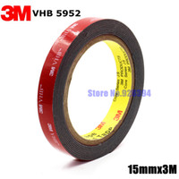 Wholesale Waterproof Double Sided Tape - Wholesale-3M VHB 5952 Black Heavy Duty Mounting Tape Double Sided Adhesive Acrylic Foam Tape 15mmx3Mx1.1mm