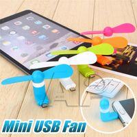 yelpaze toptan satış-Mini USB Fan Esnek Taşınabilir Tipi Dilsiz Soğutma Soğutma Için C Tipi Android Samsung S7 kenar Telefon mini Fan Ile Paketi