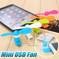 Wholesale Mini USB Fan Flexible Portable Super Mute Cooler Cooling For Android Samsung S7 edge Phone mini fan With Package