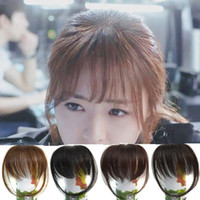 Wholesale fringe hair resale online - Sara Shuangbin Bang Clip in Bangs Fringe Frange Franja Brown Black Bangs Front Hair Extensiones Synthetic Hair Piece Hairpiece
