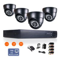 "Wholesale D1 Security System 8ch - 1 4"" CMOS 8CH Full D1 H.264 Surveillance HDMI DVR 700TVL 24IR-Led 3.6mm Len Indoor network Security CCTV Camera System day&night monitoring"