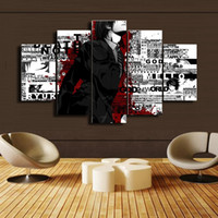 Wholesale Japanese Painting Set - 5 Pcs Set Japanese anime Canvas Print Painting Modern Canvas Wall Art for Wall Decor Home Decoration Artwork DH007