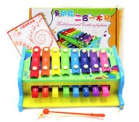 Wholesale Instruments Xylophone - multifunctional combo xylophone Fashion wooden toy wooden xylophone musical toy baby toddle kids wisdom development music instrument piano