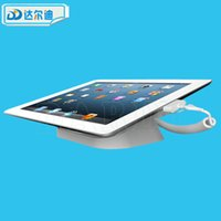 Wholesale Smartphone Tablet Stand Holder - Acrylic Alarm iPad Tablet Secure Display Anti-theft Stand Alarm Holder Retail Phone against Theft Smartphone Shop Transparent Clear White
