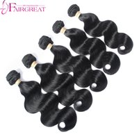 Wholesale Hair Weave Style Natural Wave - Peruvian Hair Bundles Unprocessed Natural Color Human Hair Extensions Weft 5pcs Lot Peruvian Human Hair Weave Body Wave Style Free Shipping
