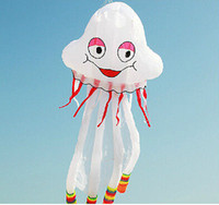 Wholesale Soft Jellyfish - 3D 500*200cm 1 Line Stunt Parafoil Jellyfish POWER Sport Kite outdoor toy