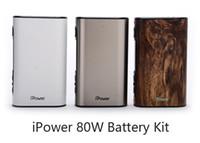 Wholesale Smart Ecig - Eleaf iPower 80W TC Box Mod with 5000mAh Battery VW Bypass Smart TC Vape Mods 100% Original ecig mods 510 Thread