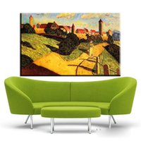 Wholesale paintings kandinsky - ZZ2003 Wassily Kandinsky Beautiful Countryside. HD Canvas Print Home decoration Living Room bedroom Wall pictures Art painting