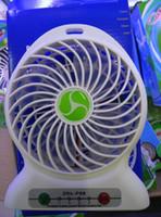 Wholesale Light Fan Colors - Mini Portable Fans Rechargeable Tables Fan LED Light Lithium Batteries 1200mah Adjustable 3 Speeds Multi Colors USB Mini Fans