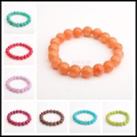 Wholesale Handmade Beaded Bracelets For Sale - Hot Sales 12 Styles Handmade Beaded Yoga Energy Reiki 7.8~8.5mm Gemstone Strands Round Beads Stretchy Bracelet for Girls