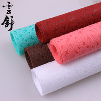 Wholesale flowers korea for sale - Group buy 2016 hotsales korea style packing paper chinese Huansha paper flower gift wrapping for christmas shopping package