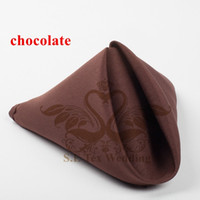 Wholesale Poly Table Napkin For Wedding Decoration cm cm Good Quality Chocolate Color