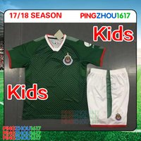 Wholesale Wholesale White Uniform Shirts - Mexico Club Camiseta de futebol 2017 Chivas de Guadalajara Kids Kits Youth Boy Soccer Jerseys 17 18 sets with Shorts uniform Football Shirts