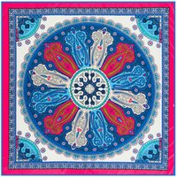 Wholesale Digital Print Silk Pashmina Scarf - New Arrival Paisley Digital Printing Twill Silk Square Scarf Brand Headscarf Shawl Scarves Cover-ups 100cm Pashmina WIith Great Quality
