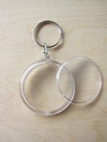 Wholesale Blank Acrylic Round Circle Keychains - 10PCS Blank Acrylic Round Circle Photo Keychain Insert Picture Personalized Keychains 1.8'' 4.6cm Free Shipping