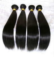 Wholesale Hair One Bundle - Brazilian human Hair extensions Malaysian Peruvian Mongolian Cambodian Unprocessed Straight Hair Bundles Dyeable Best Quality Hair Weave 8A