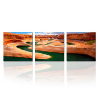 Wholesale amazing modern paintings resale online - 3 Pieces Amazing Scenery Of Grand Canyon National Park Arizona USA Landscape Picture Printed On Canvas Modern Canvas Painting Wall Art