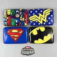 Wholesale Blue Wonder Black - Free shipping DC Heroes Captain America Superman Batman Wonder Woman Periphery Contacts Card Pack