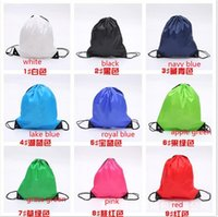 Wholesale Drawstring Backpack Mix - wholesale 2016 mixed color sent drawstring tote bags Drawstring Backpack folding creative promotion gift shopping bags