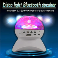Inalámbrico Bluetooth Mini MP3 Music Speaker LED Disco Mirror Ball Club Party Player Rave Etapa portátil Light Up Dance Show Amplificador de cristal