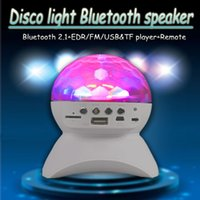 Wireless Bluetooth Mini MP3 Music Speaker LED Disco Mirror Ball Club Party Player Rave Portable Stage Light Up Dance Show Amplificador Cristal
