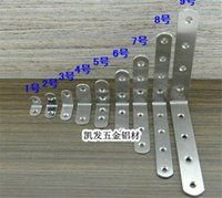 Wholesale Steel Framed Furniture - Door Hardware Non agnetic Stainless Steel 3mm Thick Thick Lamination Angle Extension Furniture Connector Bracket Plate Frame