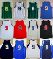 Wholesale Cheap Womens T Shirts - 9 Rajon Rondo 2017 New Mens Womens Kids Cheap-Best quality T-shirts Basketball Jerseys embroidered player name logo 100% stitched Green Blue