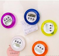 20pcs / lot NOVO Hot Sale Round Magnetic LCD Digital Kitchen Countdown Timer Alarm counter lembretes regulares