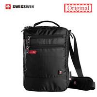 Wholesale Shoulder Bags For Tablets - Shoulder Bag Small Messenger Bag for Tablets and Documents Men's Black Handbag 11-inch Crossbody Bags for students