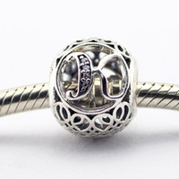 Wholesale Spiked Vintage - Vintage K Clear CZ 11 100% 925 Sterling Silver Beads Fit Pandora Charms Bracelet Authentic DIY Fashion Jewelry