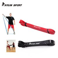 Wholesale Crossfit Resistance - Wholesale-Free Shipping Set of 2 red and black Resistance Bands Loop Fitness Crossfit Power Lifting Pull Up Band