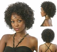 Wholesale Kinky Lace Front Wigs Stock - Top Quality Synthetic Lace Front Wig High Quality Freetress Hair Synthetic Kinky Curly Lace Front Wig For Black Women In Stock