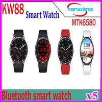 Wholesale Music Maps - Smart Watch KW88(MTK6580 1.3GHz ROM4GB+RAM512Mb) 1.39Inch. UHD AMOLED Android 5.1 BT4.0 SIM WIFI GPS Music Google map 5pcs YX-KW-88