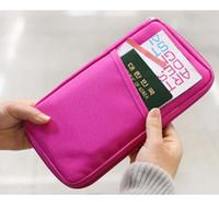 Wholesale passport holder pink - 7 Color high quality passport holder card holder credit card holder ID Cash Holder Organizer Bag Wallet