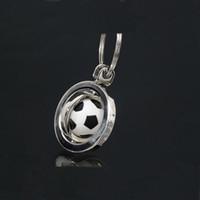 Wholesale Ball Boys Football - Hot sale 2017 European football Cup surroundings keychain Sport Style Ball Keychain Rotate Football Keyring holder Sport Men