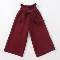 Wholesale Casual Dress Pant Legs - Children Trouser Fashion Baggy Trousers Girl Dress Long Trousers 2016 Wool Trousers Girls Pants Child Clothes Kids Clothing Lovekiss C27838
