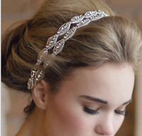 piezas de cabeza para niñas al por mayor-Precio bajo barato 2018 muchachas de la venta caliente del desfile de la diadema tiaras del pelo Crystal Tiaras de la boda accesorios nupciales Swarovski Head Piece