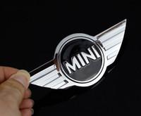 10Pcs lot Mini Cooper Logo 3D Car Stickers Metal Emblems for MINI Car Front Badge Logo with 3M sticker for Car Badges Emblem Decoration