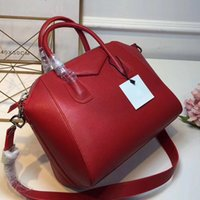 Wholesale Handbag Real Leather - women Genuine Leather bags handbags famous brand trapeze bag tote fashion designer shoulder bags real leather high quality female bag